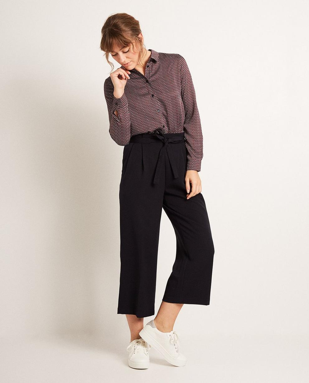 Jupe-culotte en viscose - paperbag waist - JBC